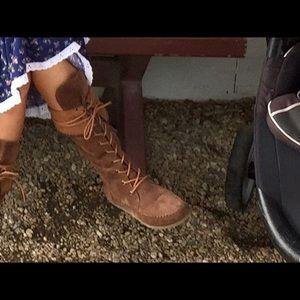 🌸Rocket Dog boots leather fringe used once